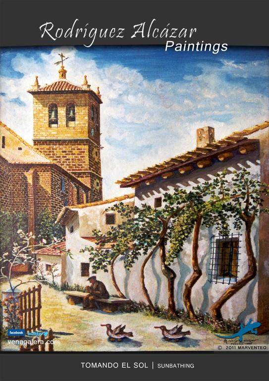 Tomando el sol - Pintor Jesús Rodríguez Alcázar - Puebla de Don Fadrique
