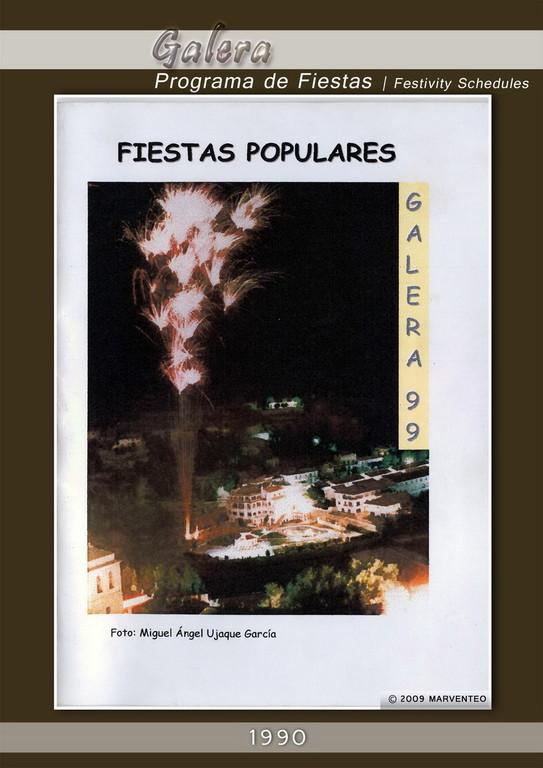 Programa Fiestas de Galera 1999