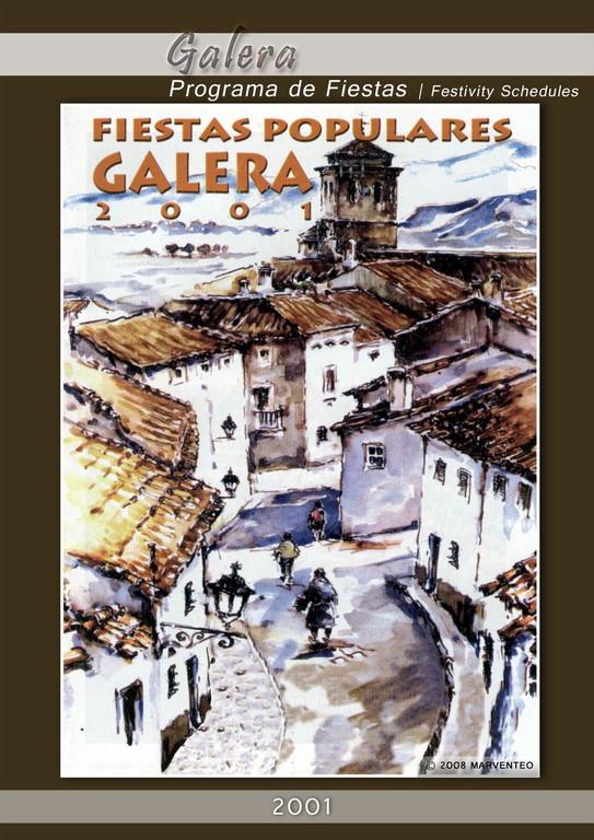 Programa Fiestas de Galera 2001