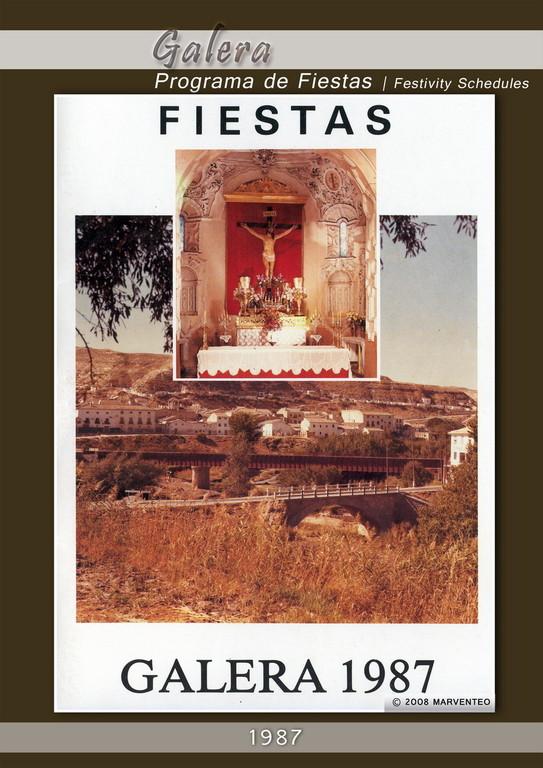 Programa Fiestas de Galera 1987