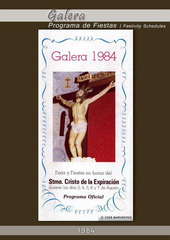 Programa Fiestas de Galera 1984