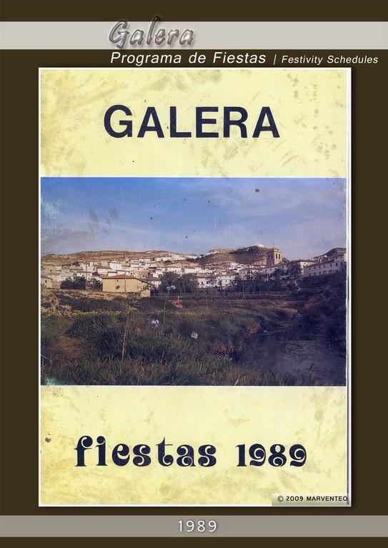 Programa Fiestas de Galera 1989