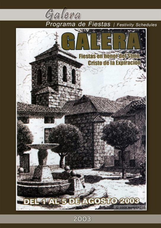 Programa Fiestas de Galera 2003