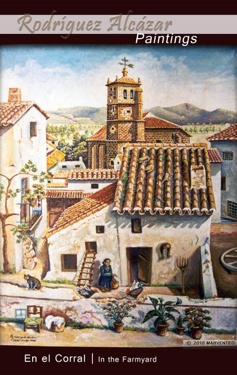 En el corral - Pintor Jesús Rodríguez Alcázar - Puebla de Don Fadrique