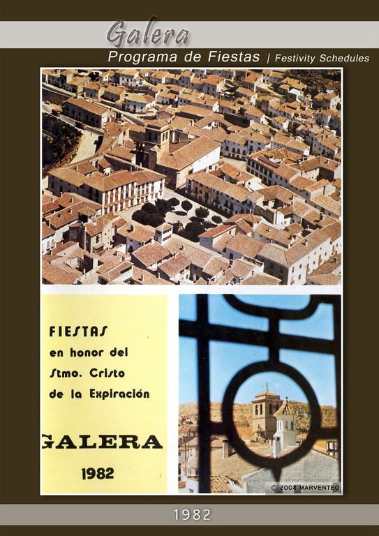 Programa Fiestas de Galera 1982