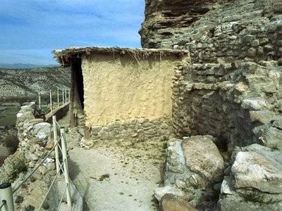 Vista de una vivienda tipo de los habitantes del Castellón Alto