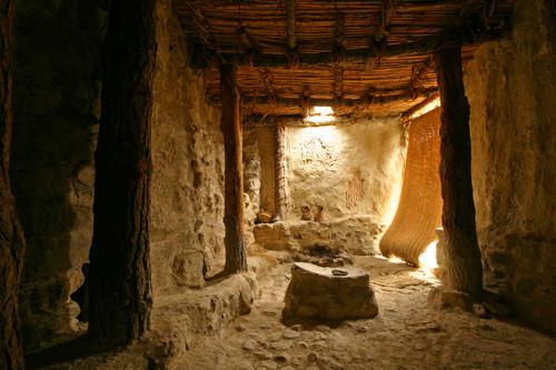 Interior de una vivienda tipo de los habitantes del Castellón Alto