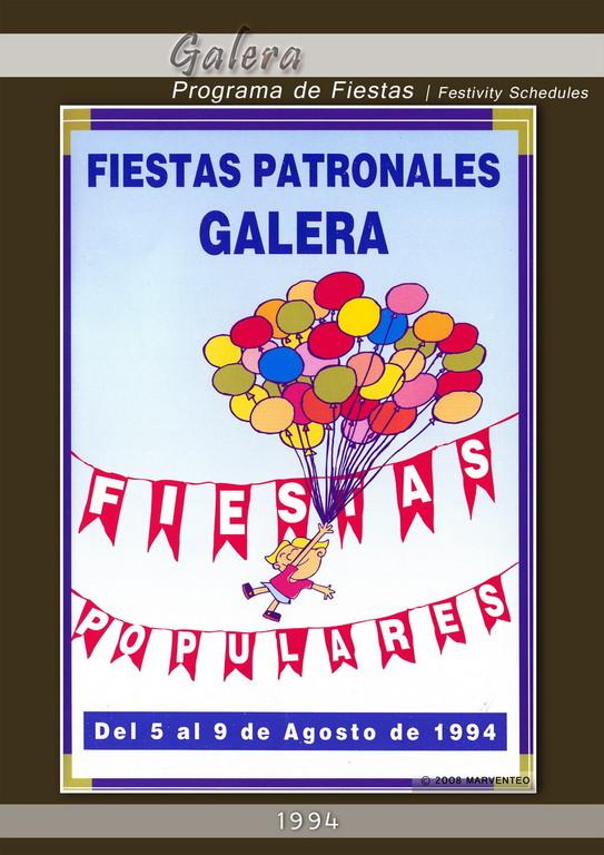 Programa Fiestas de Galera 1994