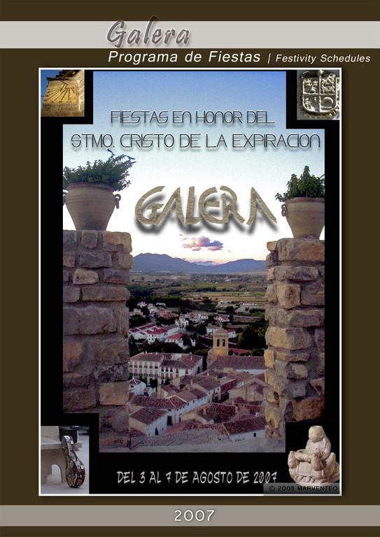 Programa Fiestas de Galera 2007
