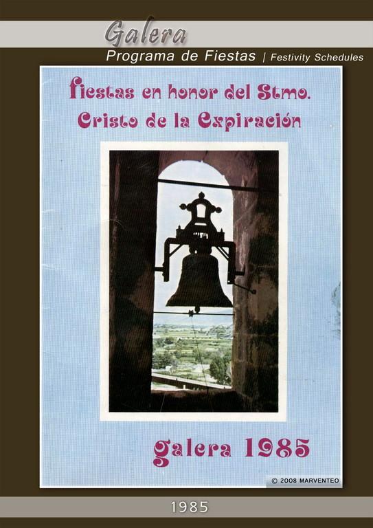 Programa Fiestas de Galera 1985