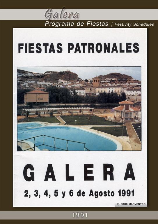 Programa Fiestas de Galera 1991