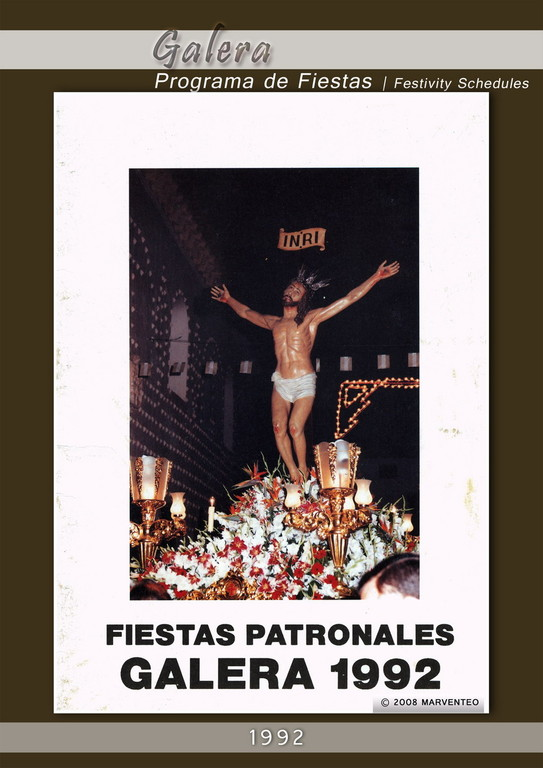 Programa Fiestas de Galera 1992