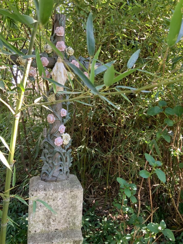 Sainte Vierge Marie et bambou