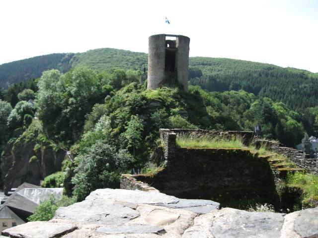 Blick auf der Schlossruine