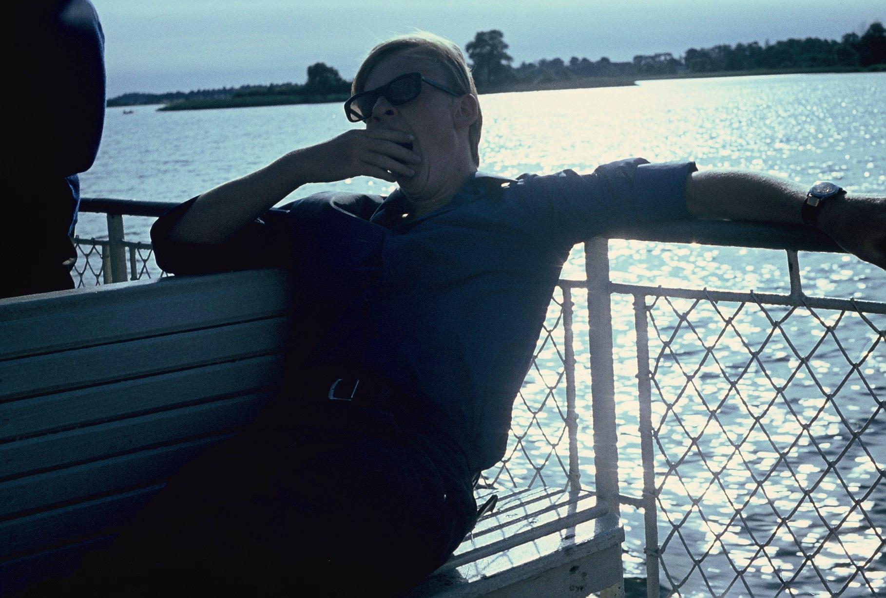 ich auf Bootsfahrt