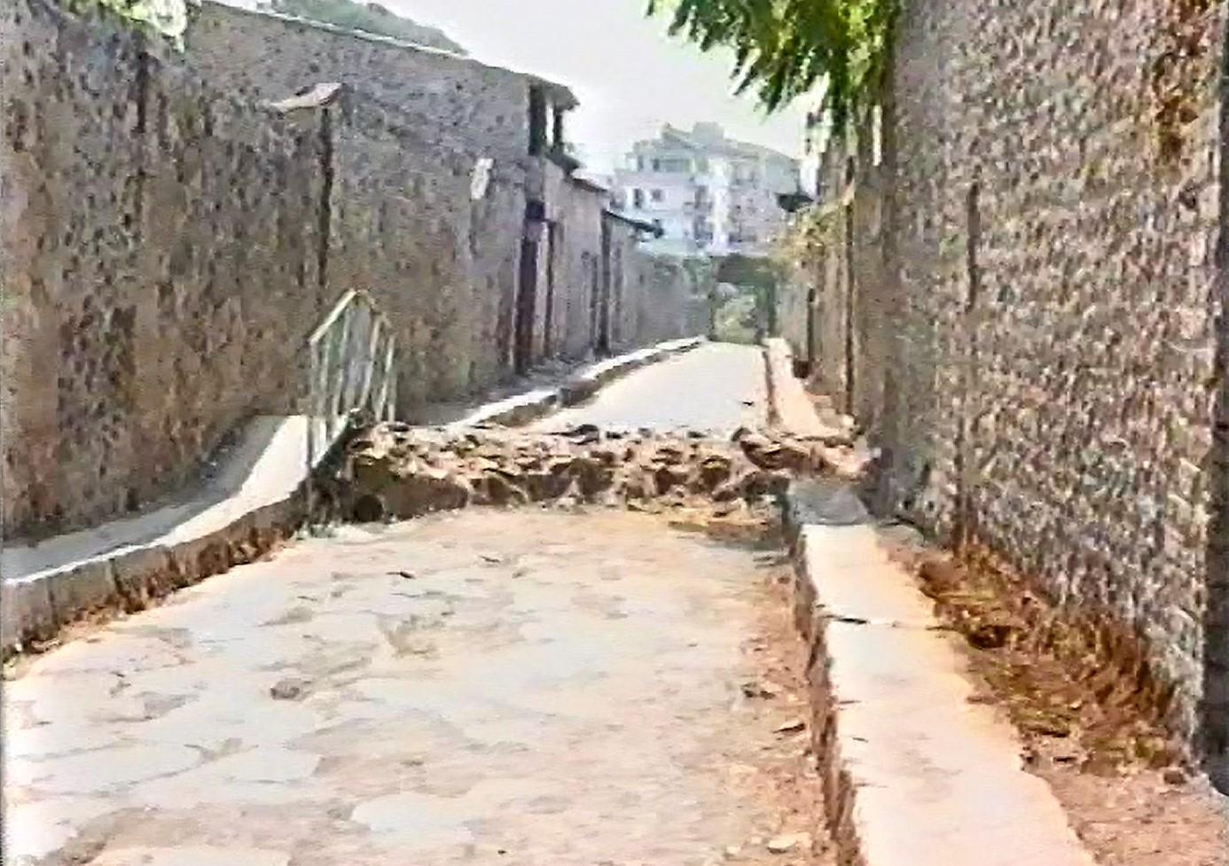 Straßenausgrabung