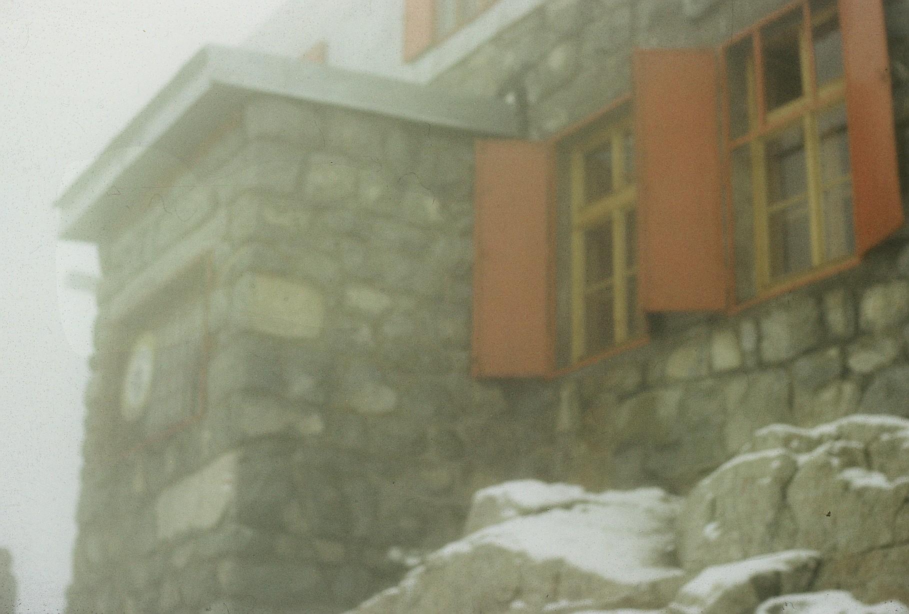 Rysyhütte im Nebel