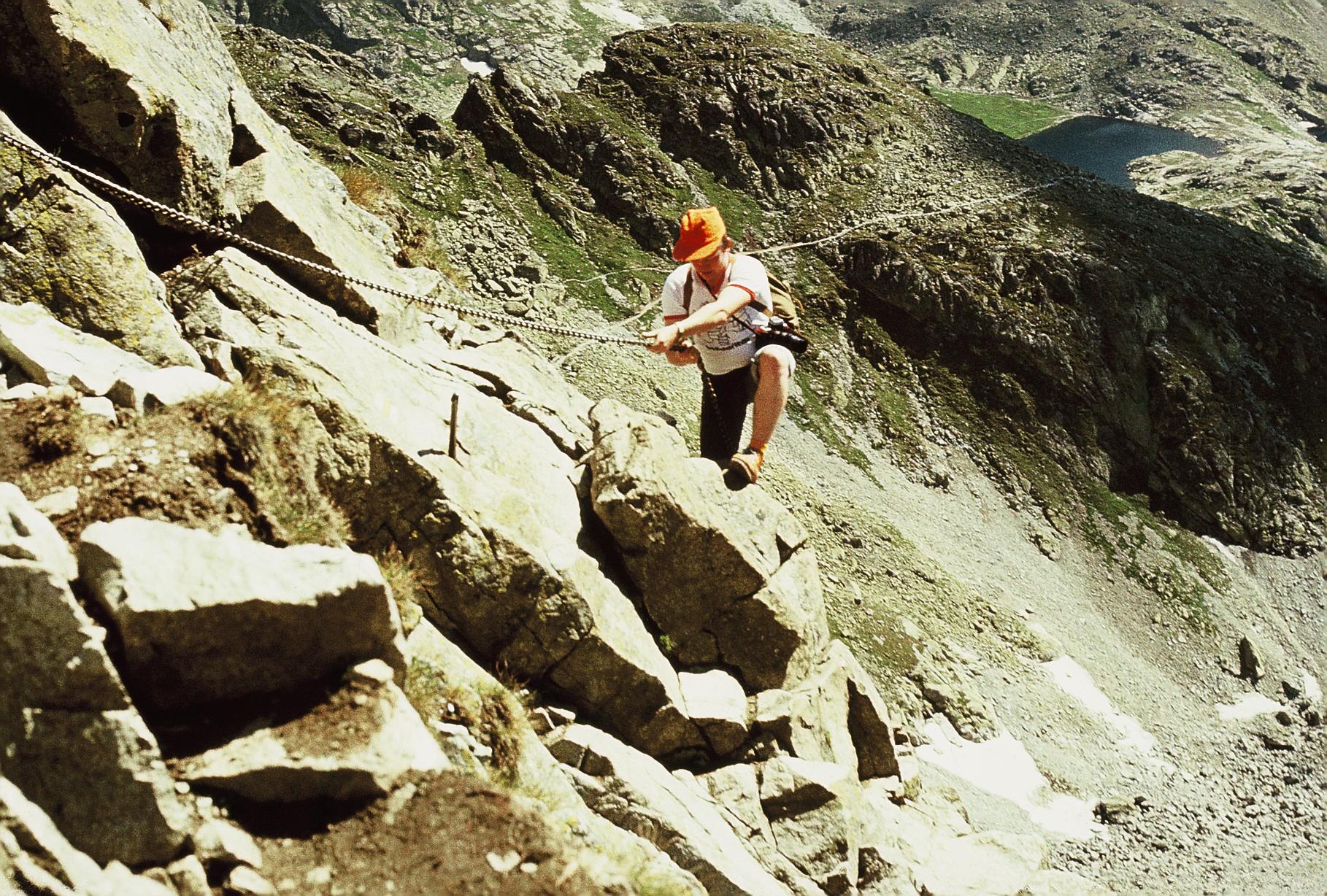Ketten helfen beim Aufstieg
