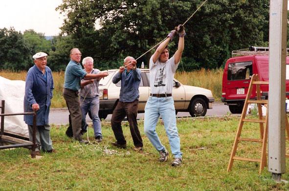 Festszelt stellen Weinländer 1996