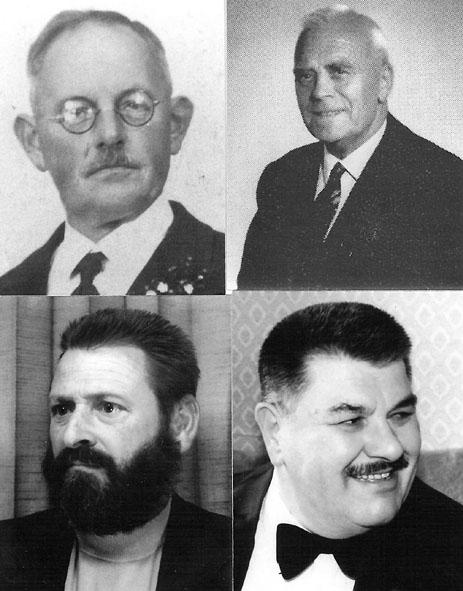 Dirigenten oben: Martin Zureich / Jakob Schreiber  unten: Hans Dätwyler / Fritz Haas