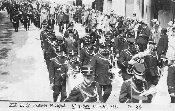 Zürcher Kantonales Musikfest Winterthur 1929