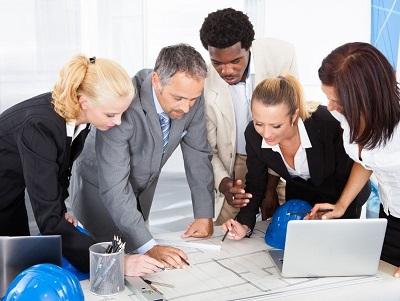 Esprit d'équipe au travail