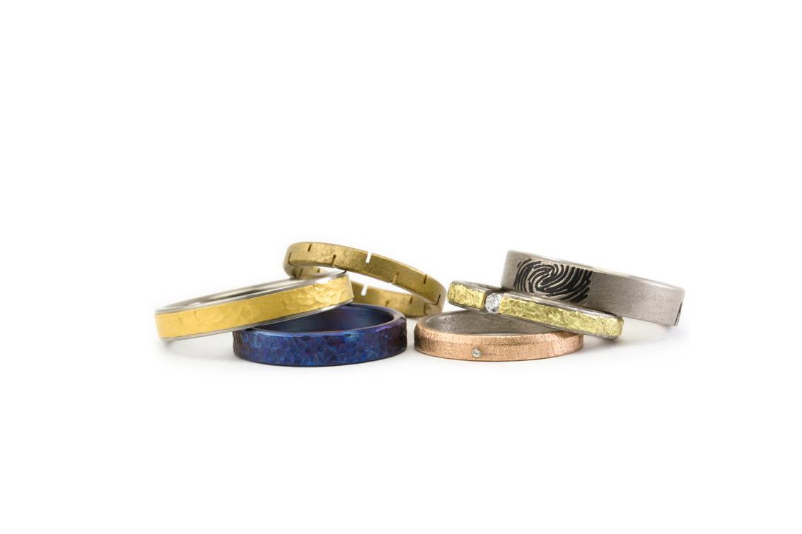 Alianzas titanio, oro, oro rojo, oro verde...