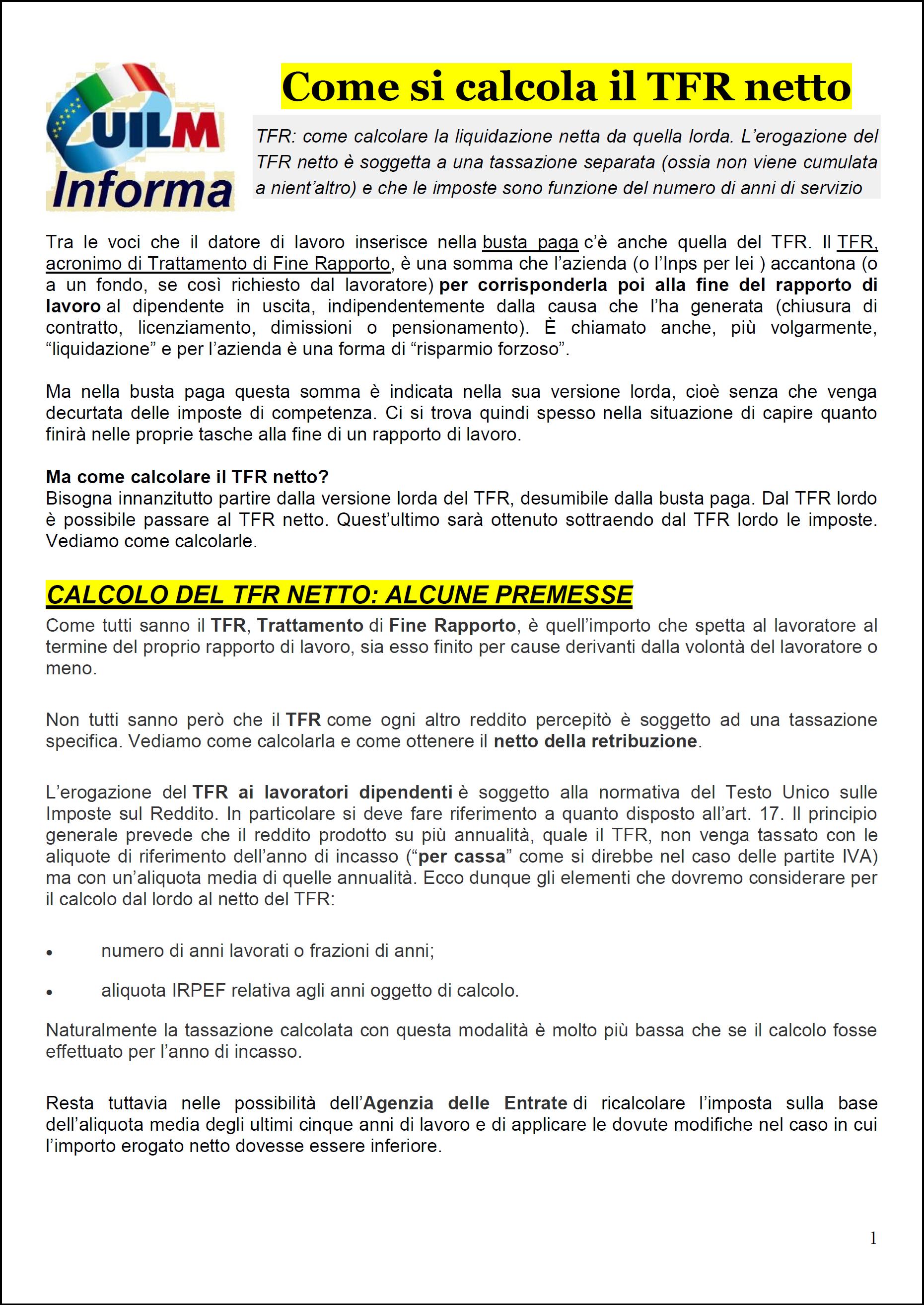 Calcolo pensione netta dal lordo - Nonsolopensioni.it