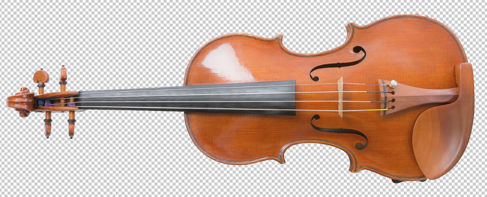 Photoshopの自動選択ツールのみ使用してバイオリンを切り抜き!