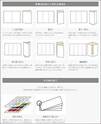 色見本帳の代表的な加工例をご紹介
