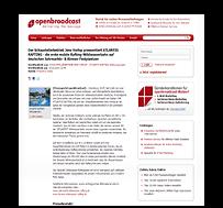 Preview-Grafik: Pressemitteilung OPENBROADCAST / Günstige & gute gebrauchte Autos kaufen in Hamburg bei AAF.DE GmbH, Autohändler in Hamburg - Norderstedt
