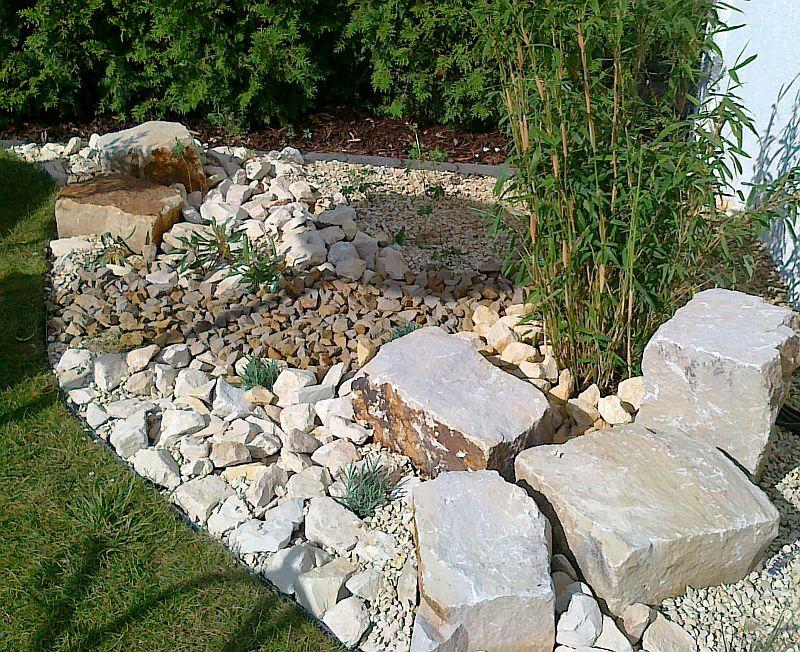 Ein Steingarten An Der Terrasse Der Staudengarten Kerstin Uberschar
