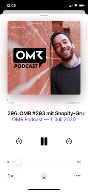 Screenshot des OMR-Podcast mit Philipp Westermeyer