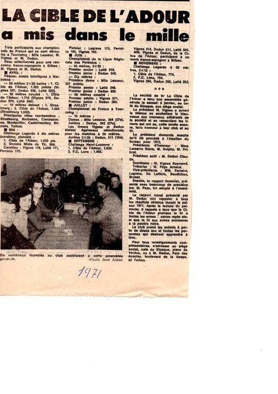 La presse en 1971