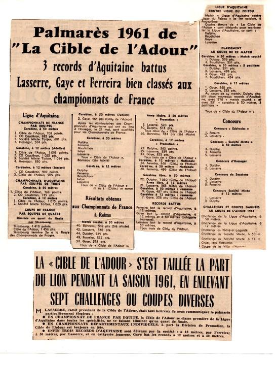 La presse en 1961