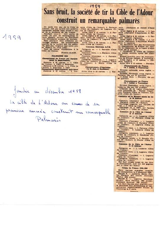 La presse en 1959