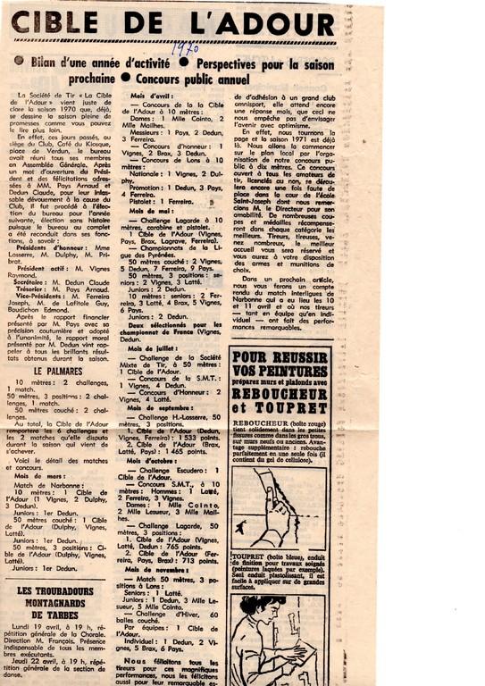 La presse en 1970