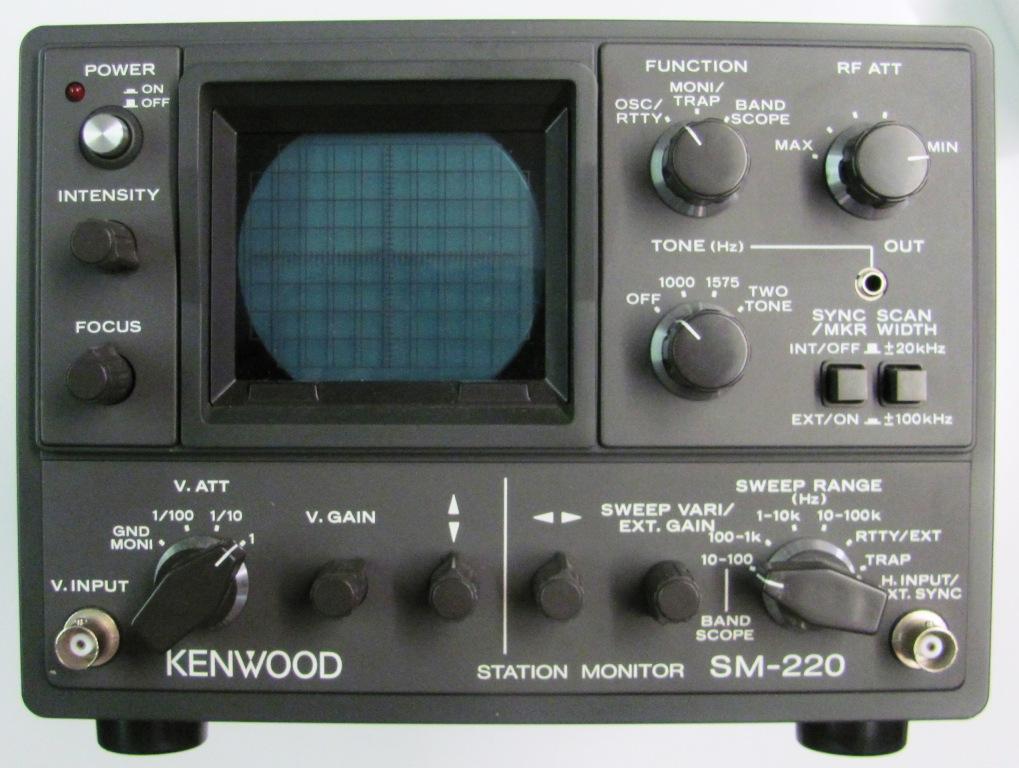 Kenwood Station Monitor SM-220 inkl. Servicemanual und Tasche