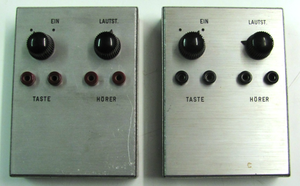 2 Morseübungssummer mit Buchsen