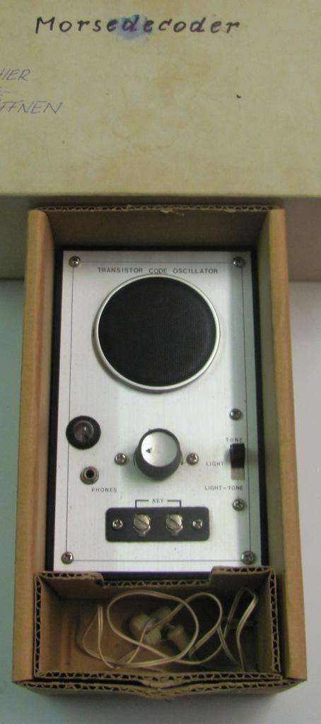 Transistor Code Oscillator Morse-Coder