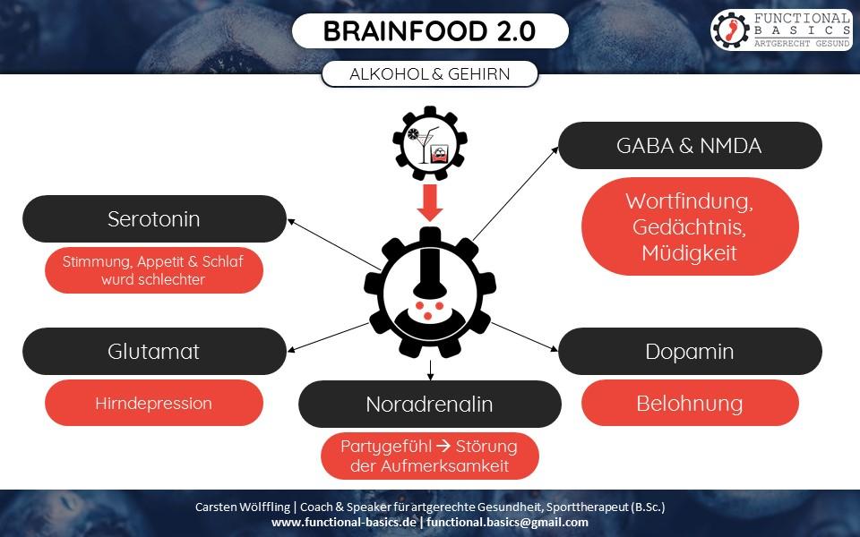 Wie wirkt Alkohol auf das Gehirn?