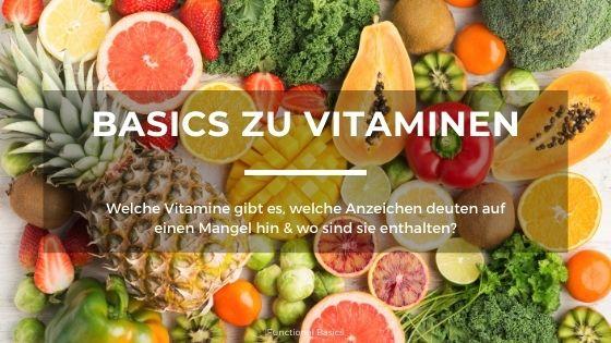 Vitamine auf einem Blick