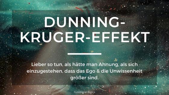 Was ist der Dunning-Kruger-Effekt?
