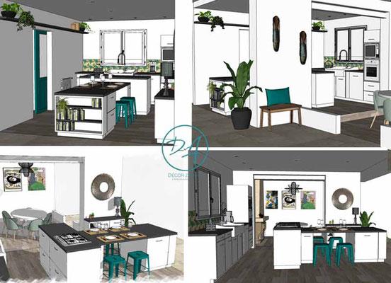 Projet rénovation cuisine - Décor Zé Âme