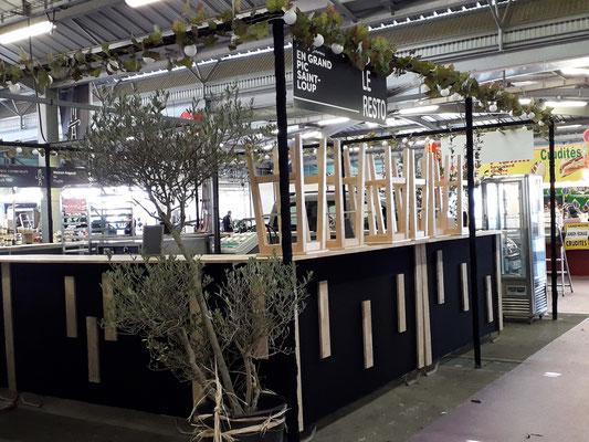Aménagement espace restauration Foire de Montpellier - Décor Zé Âme