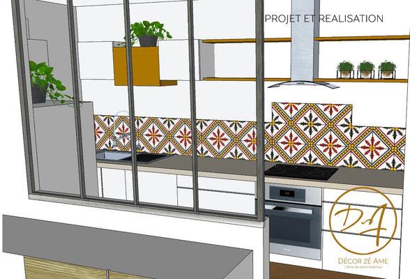 Projet d'aménagement cuisine ouverte - Décor Zé Âme