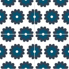 Carreaux de ciment fleur - Décor Zé Âme