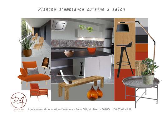 Planche d'ambiance cuisine - Décor Zé Âme