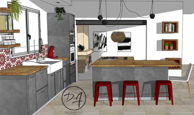 Projet d'agencement cuisine - Décor Zé Âme