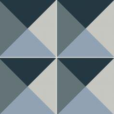 Carreaux de ciment bleu - Décor Zé Âme